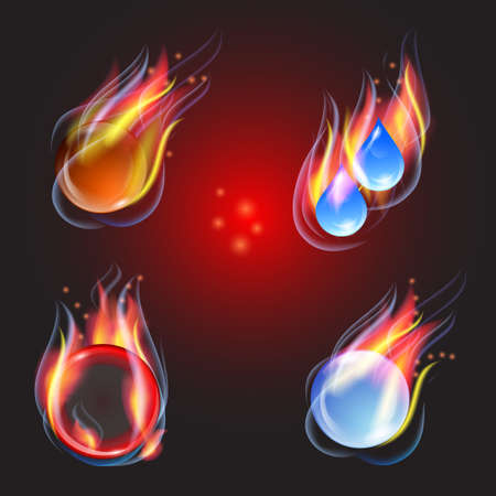 Fire collection illustration Vector