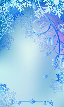 Christmas and New Year background with place for your text Vector