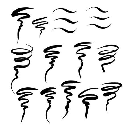 Eye liner strokes on white background. element for your design. Vector illustration