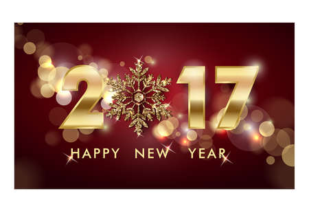 2017 Happy New Year background. Christmas And New Year background. Template Vector. Illustration