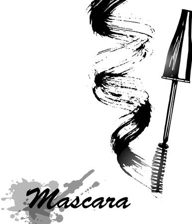 smudge: Mascara and brush stroke vector, beauty and cosmetic background. Vector illustration. Illustration