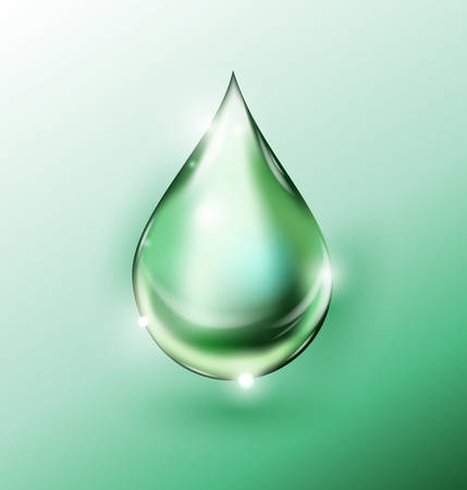 Green drop background. Eco technology concept. Vector eps 10