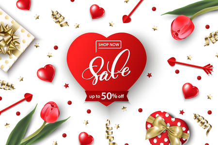 Valentines Day sale web banner