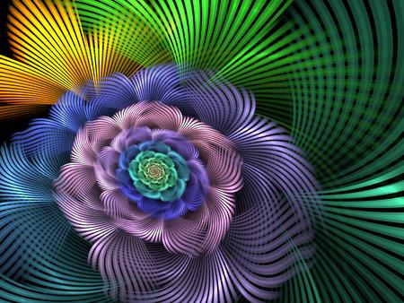 Abstract fractal spiral flower computer-generated illustration. Reklamní fotografie