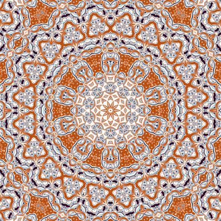 Abstract fractal mandala computer-generated illustration. Stock Photo