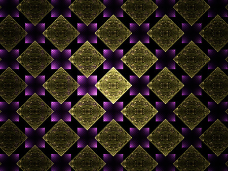 Abstract fractal geometric pattern, computer-generated illustration.