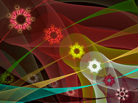 Abstract fractal background computer-generated illustration. Stockfoto