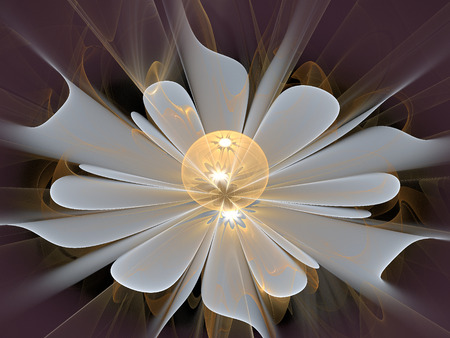 Fractal flower, abstract computer-generated illustration.