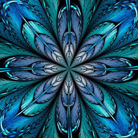 Abstract fractal background computer-generated illustration. Stock fotó
