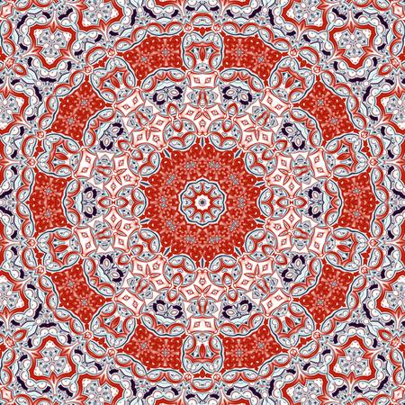 Abstract fractal mandala, computer-generated illustration.