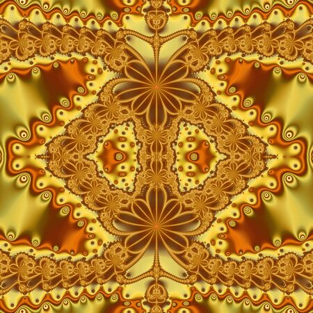 Abstract fractal background, computer-generated illustration. Zdjęcie Seryjne