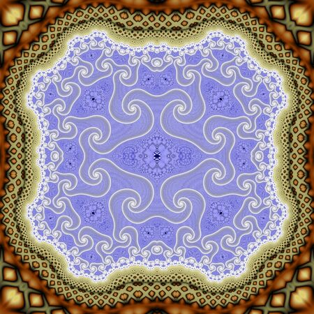 Abstract fractal spiral background, computer-generated illustration.