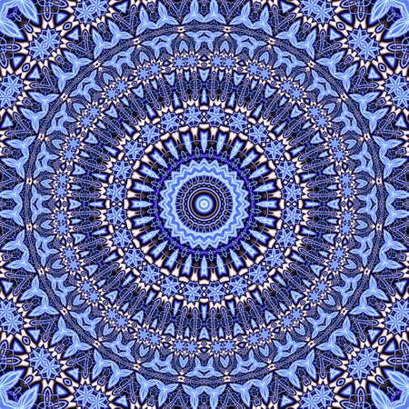 Abstract fractal mandala, computer-generated illustration. Reklamní fotografie