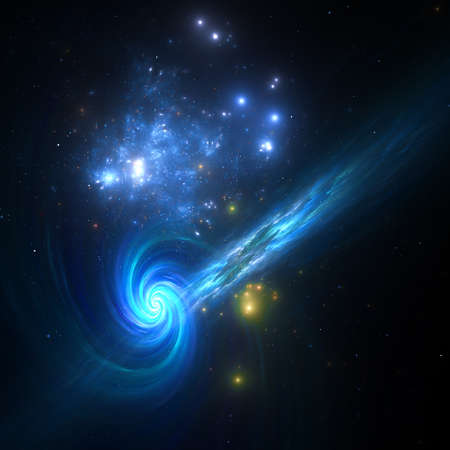 Abstract fractal background, computer-generated illustration.