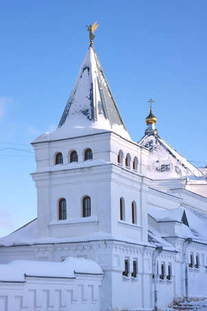beautiful church in winter on a background blue sky in city Perm, Russia Stock Photo - 7142530