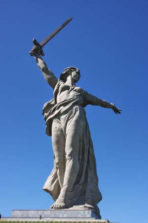 volgograd: monument Motherland mother in city Volgograd, Russia
