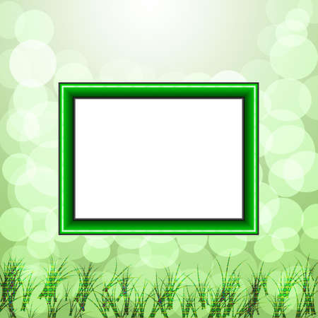 scope for a design on a green background photo