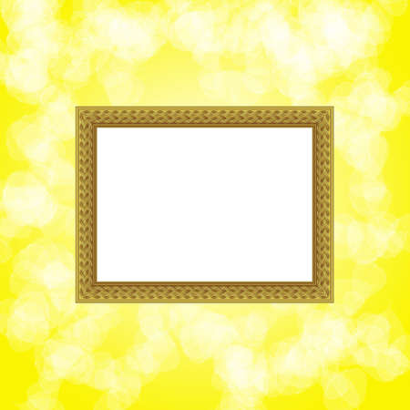 scope for a design on a yellow background photo