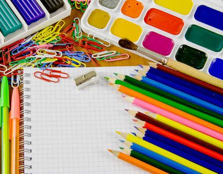 bright school belonging, office commodities Stock Photo - 17059248