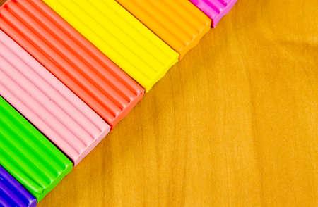 belonging: school belonging, bright plasticine