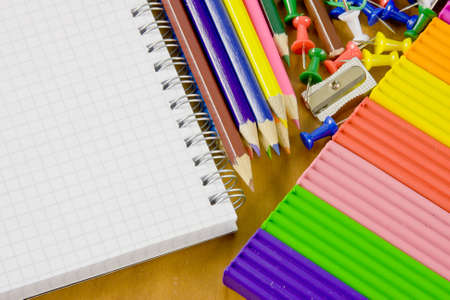 bright school belonging, office commodities Stock Photo - 17059229