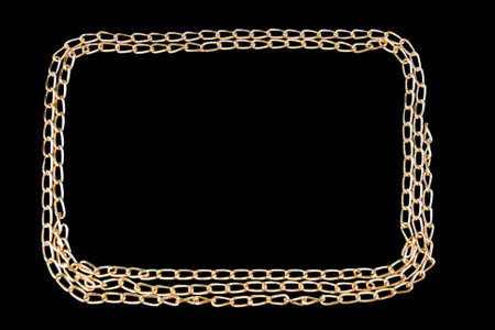 chainlet: gilded chainlet on a black background