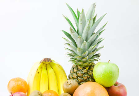 still life from different fruit on a white background Stock Photo - 17278987