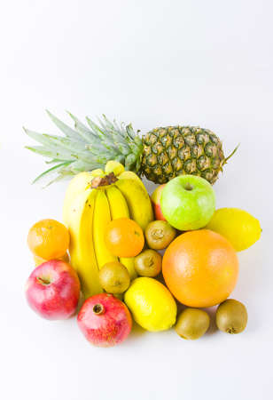 still life from different fruit on a white background Stock Photo - 17278989