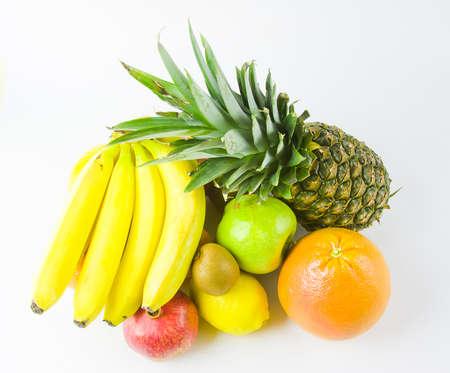 still life from different fruit on a white background Stock Photo - 17279001