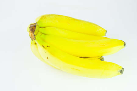 copula: ripe bananas on a white background