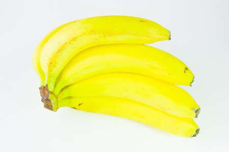 ripe bananas on a white background Stock Photo - 17278945