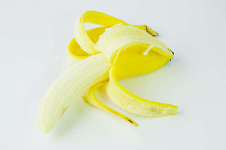 ripe banana on a white background photo