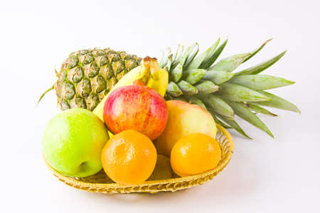 still life from different fruit on a white background Stock Photo - 17278997