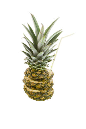 pineapple on a white background Stock Photo - 17278929