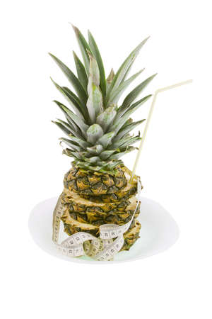 pineapple and measuring ribbon Stock Photo - 17278930
