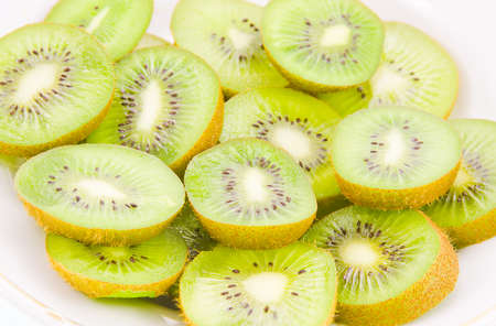 fruit of kiwi on a white background Stock Photo - 17278995
