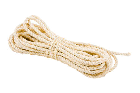 rope twisted on a white background Stock Photo - 17278948