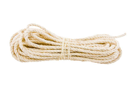 rope twisted on a white background Stock Photo - 17278949