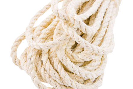 rope twisted on a white background Stock Photo
