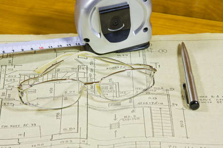 documentation: roulette, pen and glasses on project documentation