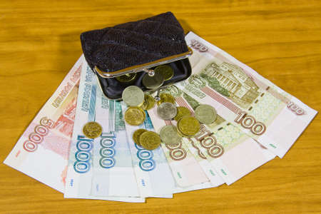 accumulations: purse and Russian money