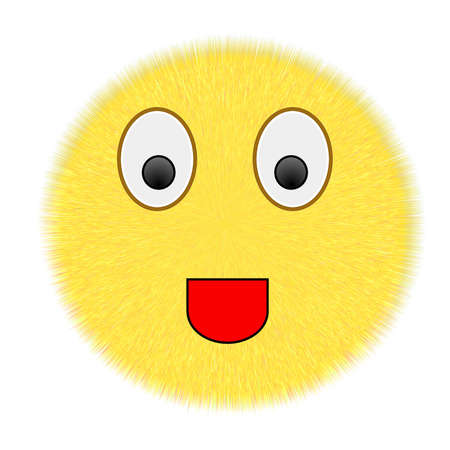 ordinary smiley icon on white  background photo
