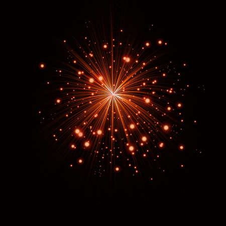 banger: a beautiful bright red salute on a black background