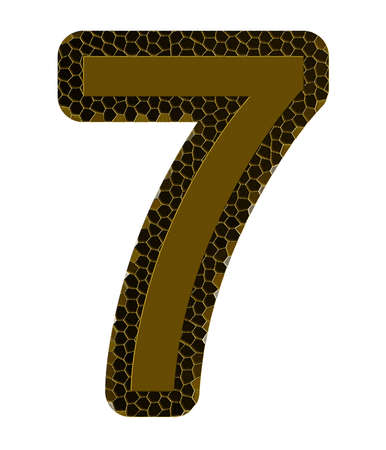 number seven on a white background, it is isolated photo