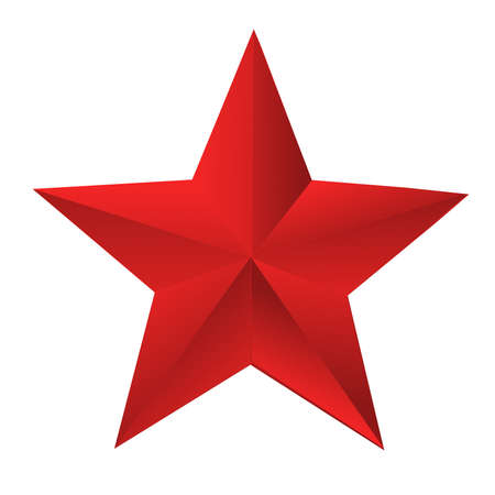 red bright star  on a white background