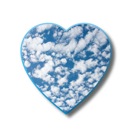 heart tone: abstract heart from clouds, illustration Stock Photo