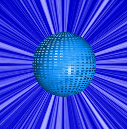 abstract beautiful bright blue background and ball photo