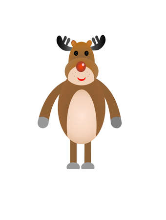gladness: funny deer on a white background, vectorial illustration