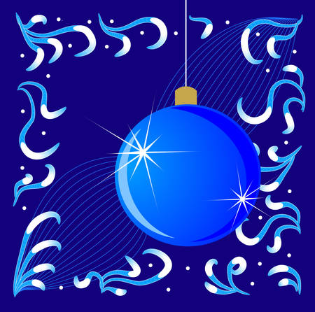 newyear: abstract blue background with a new-year marble for a design, vectorial illustration