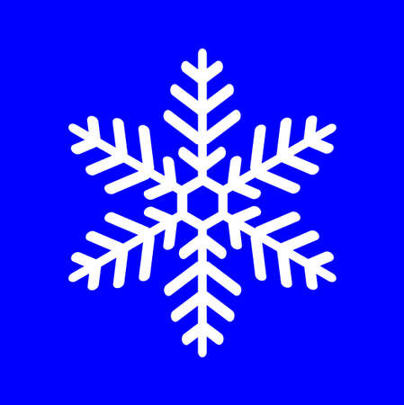 vectorial: white snowflake on a blue background, vectorial illustration Illustration